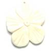Bone Flower Pendant White Worked On Bone